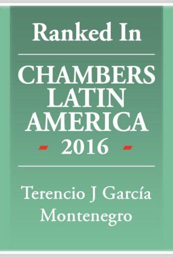 Chambers Latin America 2016 -Terencio García