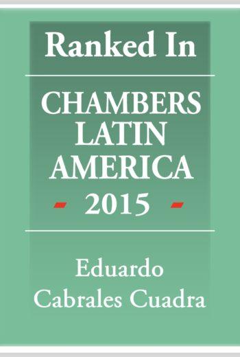 Chambers Latin America 2015 - Eduardo Cabrales