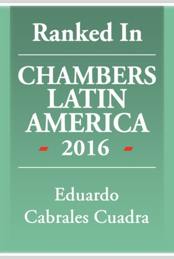 Chambers Latin America 2016 -Eduardo Cabrales
